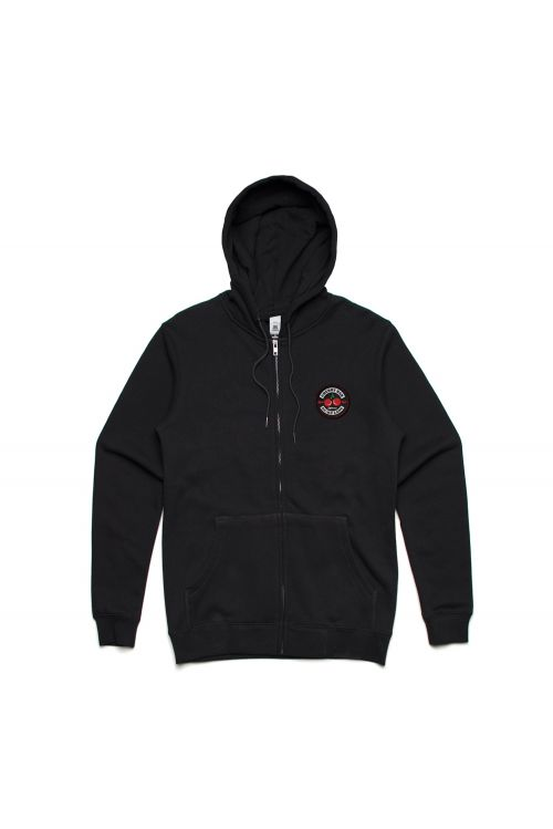 Classic Logo Black Zip Hoody with Patch by Cherry Bar