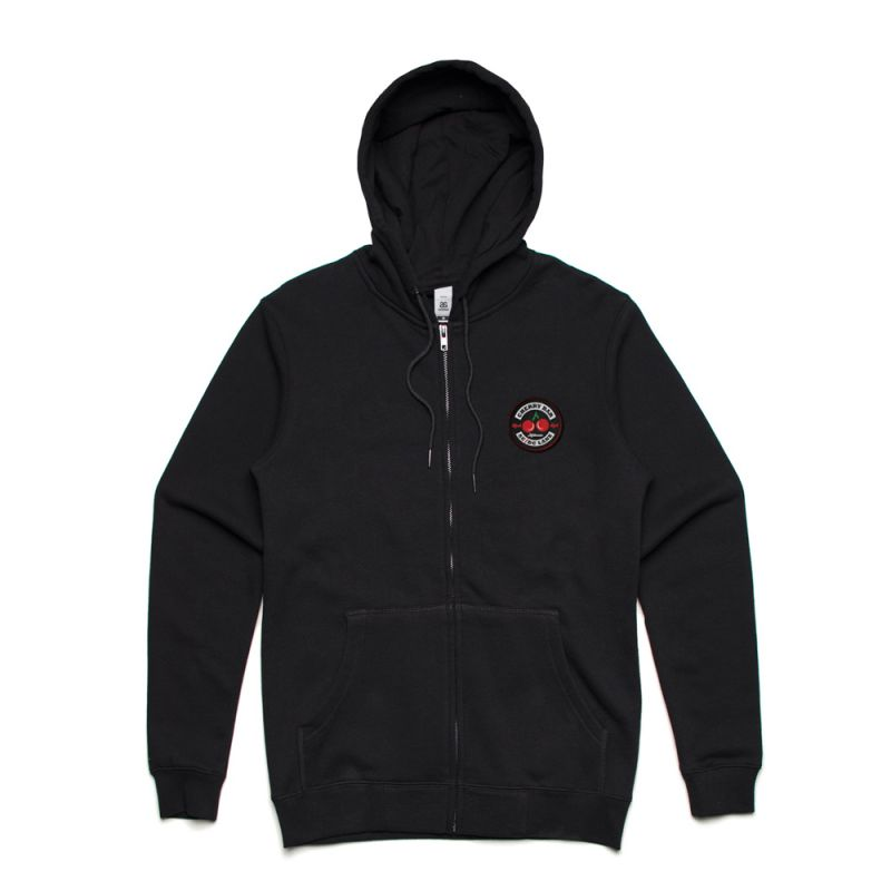 Classic Logo Black Zip Hoody with Patch